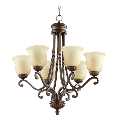 Quorum Lighting Quorum Lighting Tribeca Ii Oiled Bronze Chandelier 6078-6-186