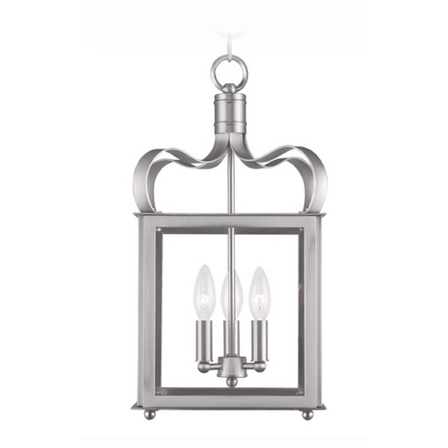 Livex Lighting Livex Lighting Garfield Brushed Nickel Pendant Light 4313-91