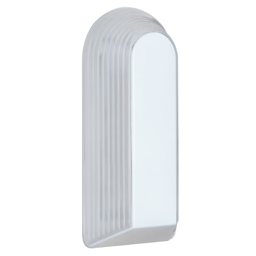 Besa Lighting Frosted Ribbed Glass Outdoor Wall Light White Costaluz by besa Lighting 243353-FR
