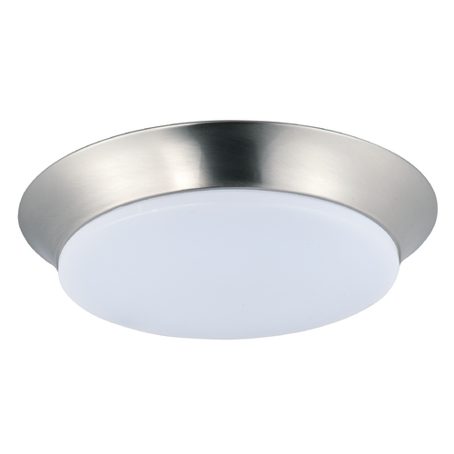 Maxim Lighting Maxim Lighting Profile Ee Satin Nickel LED Flushmount Light 87598WTSN