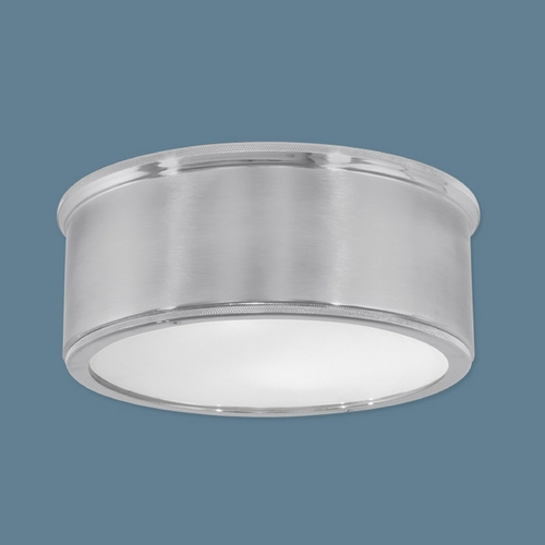 Norwell Lighting Norwell Lighting Sandra Polished Nickel Flushmount Light 5378-PN/BN-RI