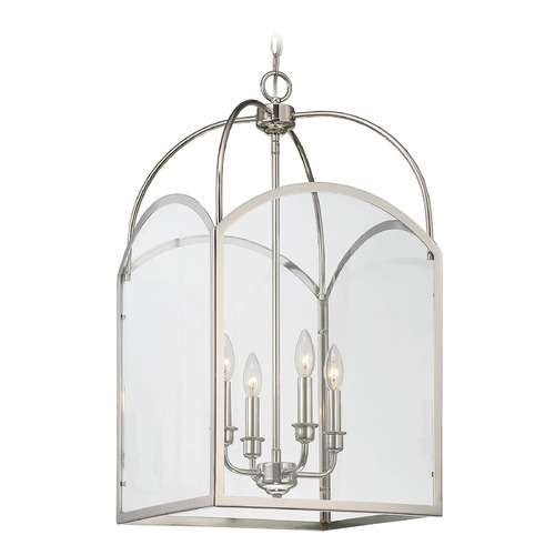 Savoy House Savoy House Lighting Garrett Polished Nickel Pendant Light with Square Shade 3-3056-4-109