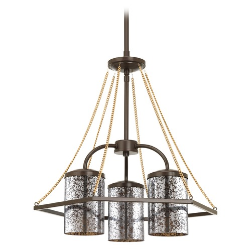 Progress Lighting Progress Lighting Indi Antique Bronze Chandelier P4248-20