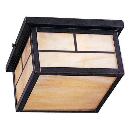 Maxim Lighting Close To Ceiling Light with Beige / Cream Glass in Burnished Finish 4059HOBU