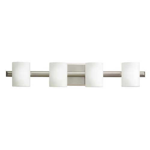 Kichler Lighting Kichler Modern Bathroom Light in Brushed Nickel Finish 5968NI