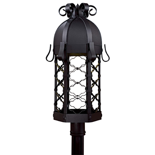 Minka Lighting Post Light in Black Finish 9246-1-66-PL