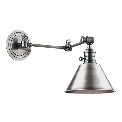 Hudson Valley Lighting Swing Arm Lamp in Polished Nickel Finish 8322-PN