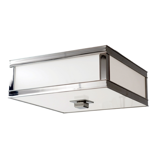 Hudson Valley Lighting Flushmount Light with White Glass in Polished Nickel Finish 4210-PN