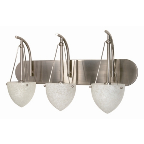 Nuvo Lighting Modern Bathroom Light with White Glass in Brushed Nickel Finish 60/136