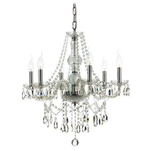 Ashford Classics Lighting 6-Light Crystal Chandelier in Chrome 2251