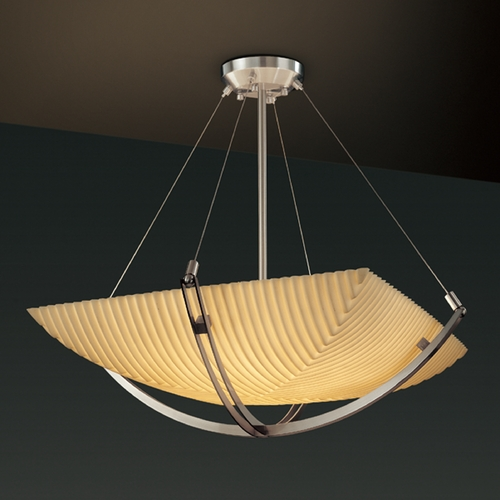 Justice Design Group Justice Design Group Porcelina Collection Pendant Light PNA-9721-25-PLET-NCKL