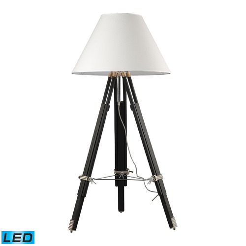 Dimond Lighting Dimond Lighting Chrome, Black LED Floor Lamp with Coolie Shade D2127-LED