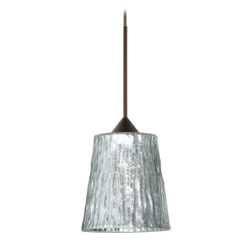 Besa Lighting Besa Lighting Nico Bronze LED Mini-Pendant Light 1XT-5125SF-LED-BR