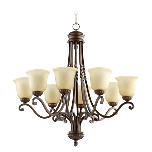 Quorum Lighting Quorum Lighting Tribeca Ii Oiled Bronze Chandelier 6078-8-186