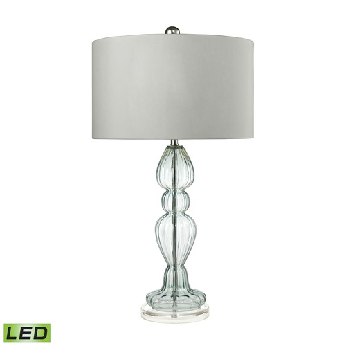 Dimond Lighting Dimond Lighting Light Blue LED Table Lamp with Drum Shade D2558-LED