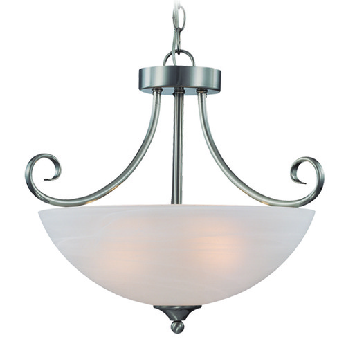 Jeremiah Lighting Jeremiah Raleigh Satin Nickel Semi-Flushmount Light 25333-SN