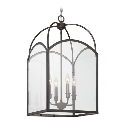 Savoy House Savoy House Lighting Garrett English Bronze Pendant Light with Square Shade 3-3056-4-13