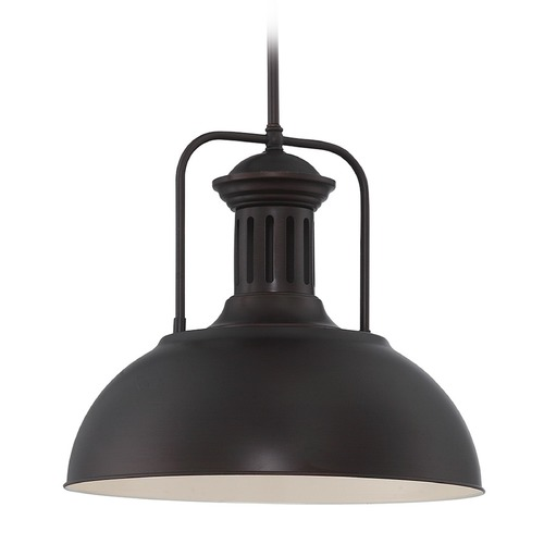 Lite Source Lighting Lite Source Dark Bronze Pendant Light with Bowl / Dome Shade LS-19922D/BRZ
