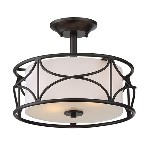 Designers Fountain Lighting Designers Fountain Avara Oil Rubbed Bronze Semi-Flushmount Light 88611-ORB