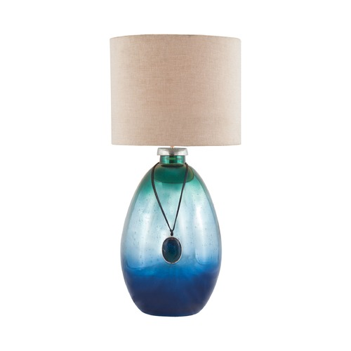 Dimond Lighting Dimond Kingfisher Pacific Blue Mercury Table Lamp with Drum Shade 8468-087