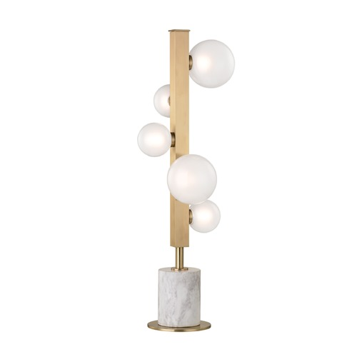Hudson Valley Lighting Mid-Century Modern LED Table Lamp Brass Mini Hinsdale by Hudson Valley Lighting L805-AGB