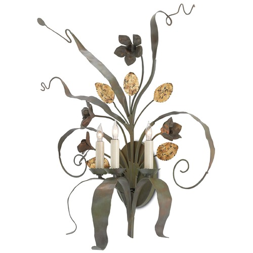 Currey and Company Lighting Currey and Company Bunny Williams Verdigris Sconce 5000-0067