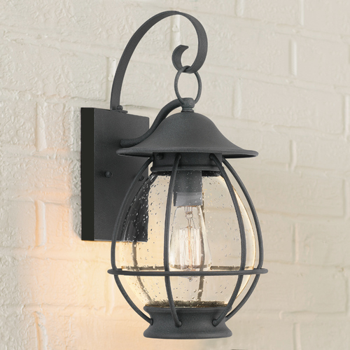Quoizel Lighting Quoizel Lighting Boston Mottled Black Outdoor Wall Light BST8409MB