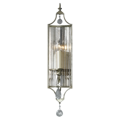 Feiss Lighting Sconce Wall Light in Gilded Silver Finish WB1447GS
