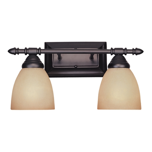 Designers Fountain Lighting Bathroom Light with Amber Glass in Oil Rubbed Bronze Finish 94002-ORB