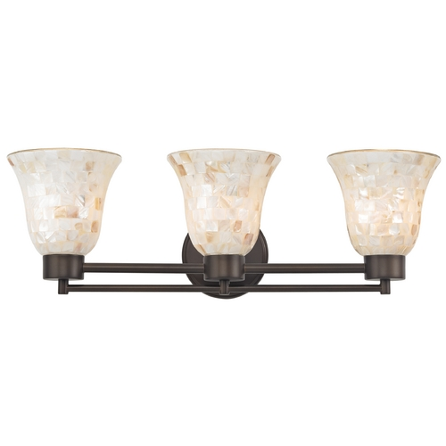 Design Classics Lighting Bathroom Light with Mosaic Glass Glass in Bronze Finish 703-220 GL9222-M