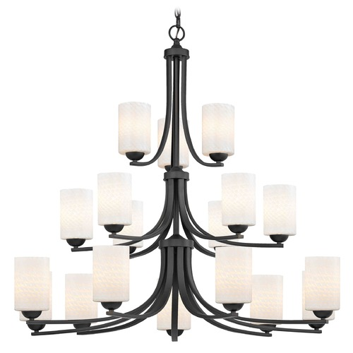 Design Classics Lighting Design Classics Dalton Fuse Neuvelle Bronze Chandelier 5863-220 GL1020C