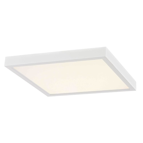 Design Classics Lighting Flat LED Light Surface Mount 10-Inch Square White 2700K 1495LM 10279-WH SQ T16