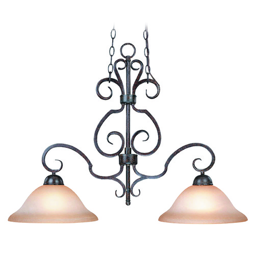 Craftmade Lighting Craftmade Sheridan Forged Metal Island Light with Bowl / Dome Shade 22022-FM