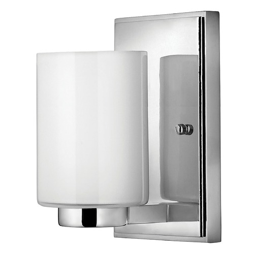 Hinkley Lighting Sconce with White Glass in Chrome Finish 5050CM