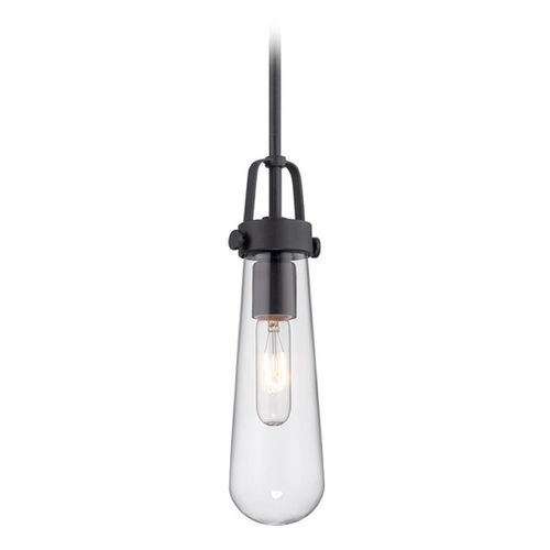 Nuvo Lighting Mini-Pendant Light with Clear Glass in Aged Bronze Finish 60/5362