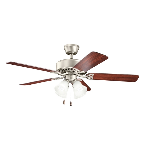 Kichler Lighting Kichler Lighting Renew Premier Brushed Nickel Ceiling Fan with Light 339240NI