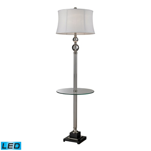 Dimond Lighting Dimond Lighting Clear, Polished Nickel LED Gallery Tray Lamp with Drum Shade D2310-LED
