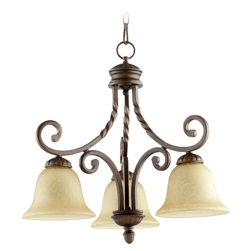 Quorum Lighting Quorum Lighting Tribeca Ii Oiled Bronze Chandelier 6478-3-186