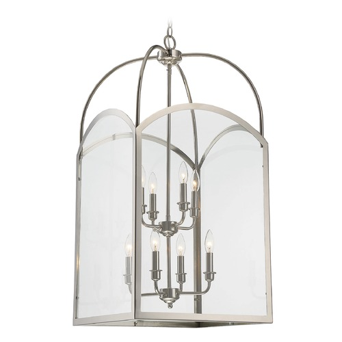Savoy House Savoy House Lighting Garrett Polished Nickel Pendant Light with Square Shade 3-3057-8-109