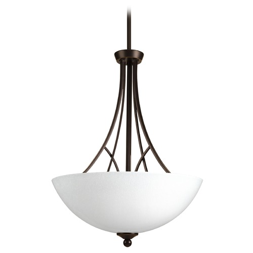 Progress Lighting Progress Lighting Prosper Antique Bronze Pendant Light with Bowl / Dome Shade P3700-20