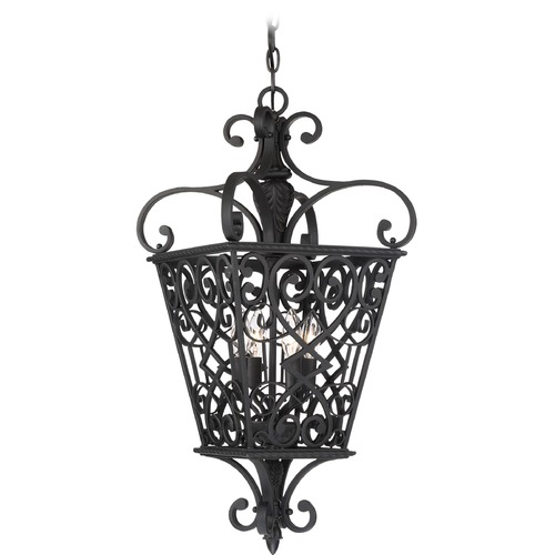 Quoizel Lighting Quoizel Lighting Fort Quinn Marcado Black Pendant Light FQ1913MK01