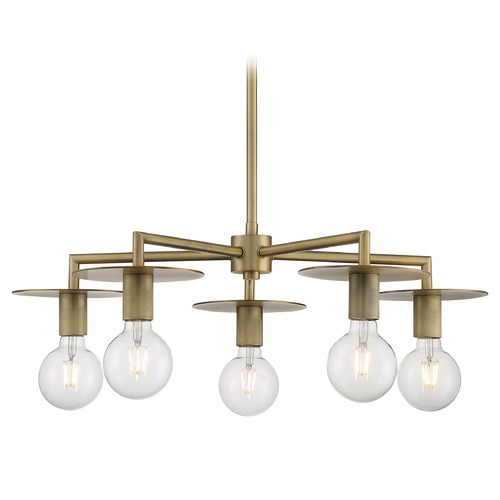 Satco Lighting Satco Lighting Bizet Vintage Brass Chandelier 60/7245