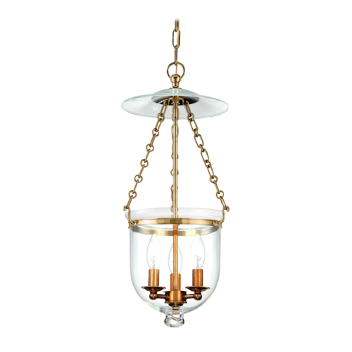 Hudson Valley Lighting Pendant Light with Clear Glass in Aged Brass Finish 252-AGB-C1