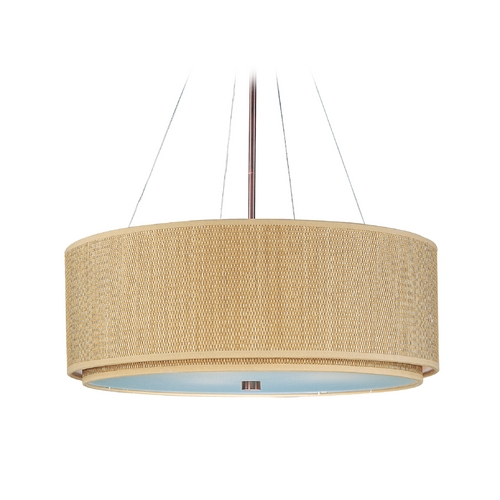ET2 Lighting Modern Pendant Light with Brown Tones Shades in Oil Rubbed Bronze Finish E95065-101OI