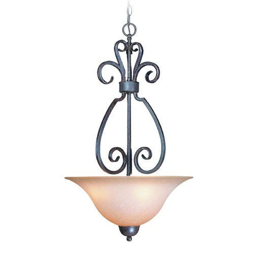 Craftmade Lighting Craftmade Sheridan Forged Metal Pendant Light with Bowl / Dome Shade 22023-FM