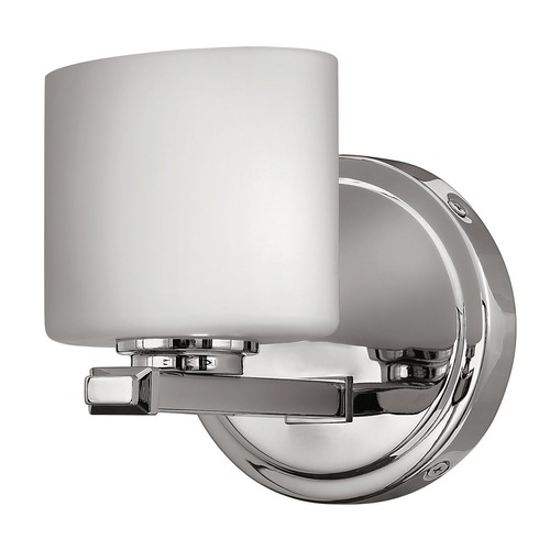 Hinkley Lighting Sconce with White Glass in Chrome Finish 5420CM
