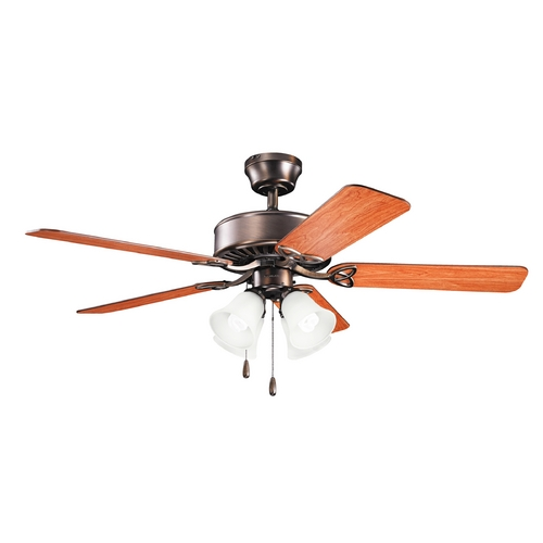 Kichler Lighting Kichler Lighting Renew Premier Oil Brushed Bronze Ceiling Fan with Light 339240OBB
