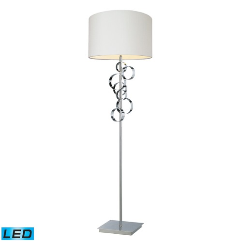 Dimond Lighting Dimond Lighting Chrome LED Floor Lamp with Drum Shade D1476-LED