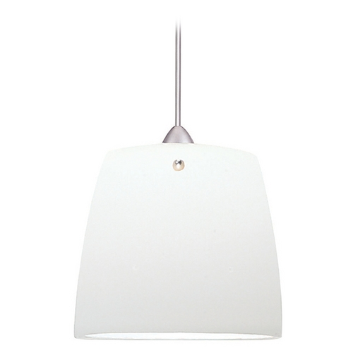 WAC Lighting Wac Lighting Contemporary Collection Brushed Nickel LED Mini-Pendant with Drum Shad MP-LED513-WT/BN