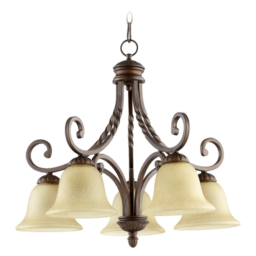 Quorum Lighting Quorum Lighting Tribeca Ii Oiled Bronze Chandelier 6478-5-186